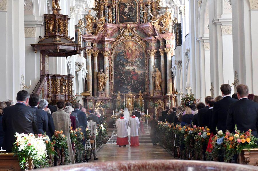 Mariage de la comtesse Anna Theresa d'Arco-Zinnenberg et Colin McKenzie à Niederalteich, le 29 septembre 2018