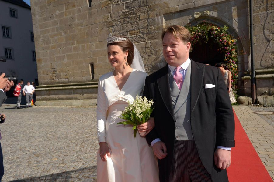 La comtesse Anna Theresa d'Arco-Zinnenberg et Colin McKenzie à Niederalteich, le 29 septembre 2018