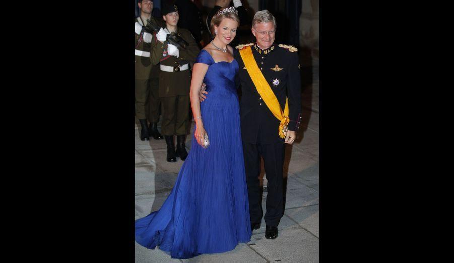 Le Prince Philippe et la Princesse Mathilde de Belgique