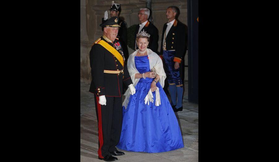 Le roi Harald de Norvège et la reine Sonja