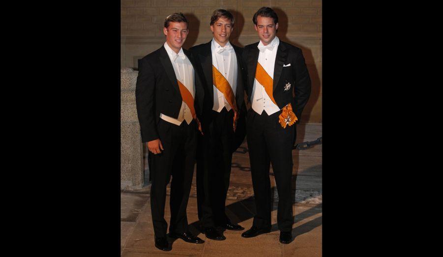Les trois Princes du Luxembourg - Sebastien, Louis et Felix