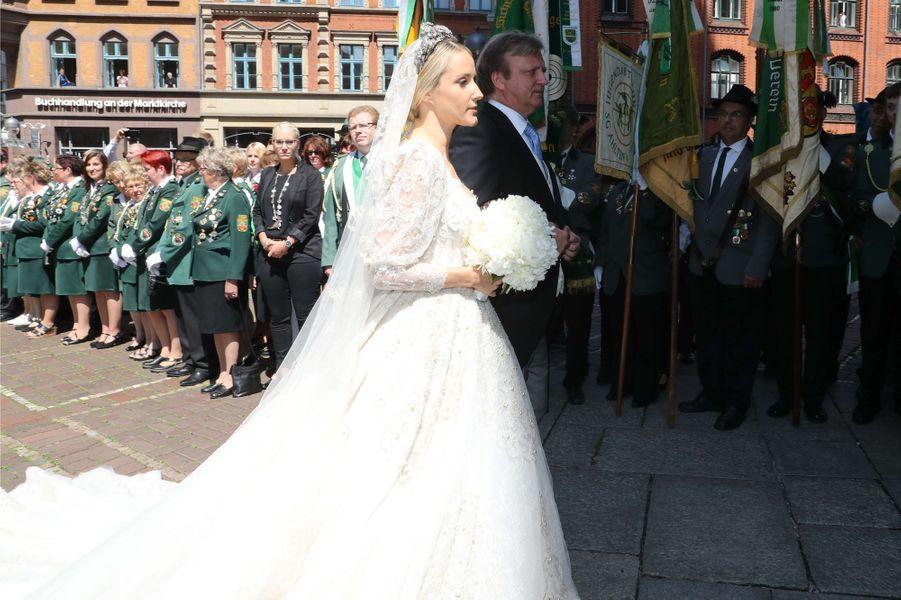 Ekaterina Malysheva lors de son mariage avec le prince Ernst August de Hanovre junior, le 8 juillet 2017