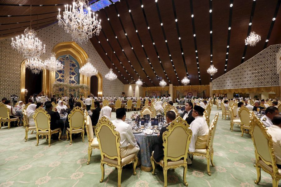 Banquet de mariage du prince Abdul Malik au Sultanat de Brunei, le 12 avril 2015