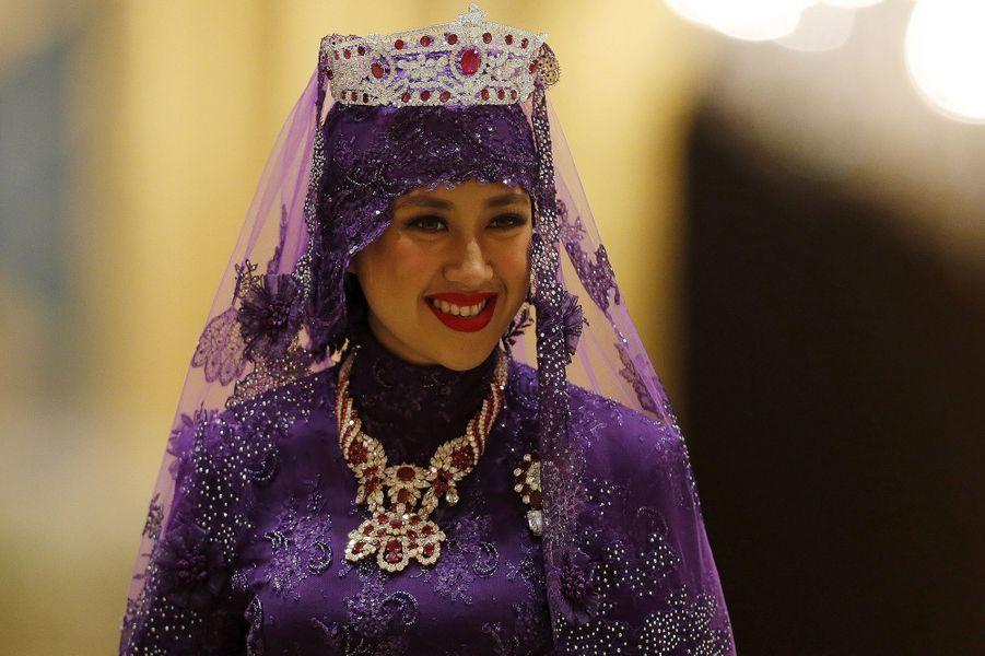 La nouvelle princesse, épouse du prince Abdul Malik, au Sultanat de Brunei, le 12 avril 2015
