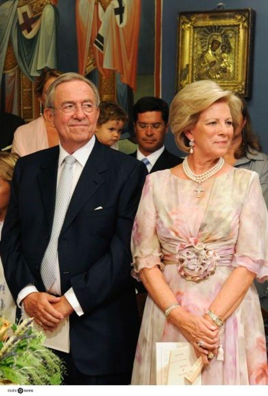 L'ancien roi de Grèce Constantin et sa épouse, la reine Anne-Marie de Danemark.