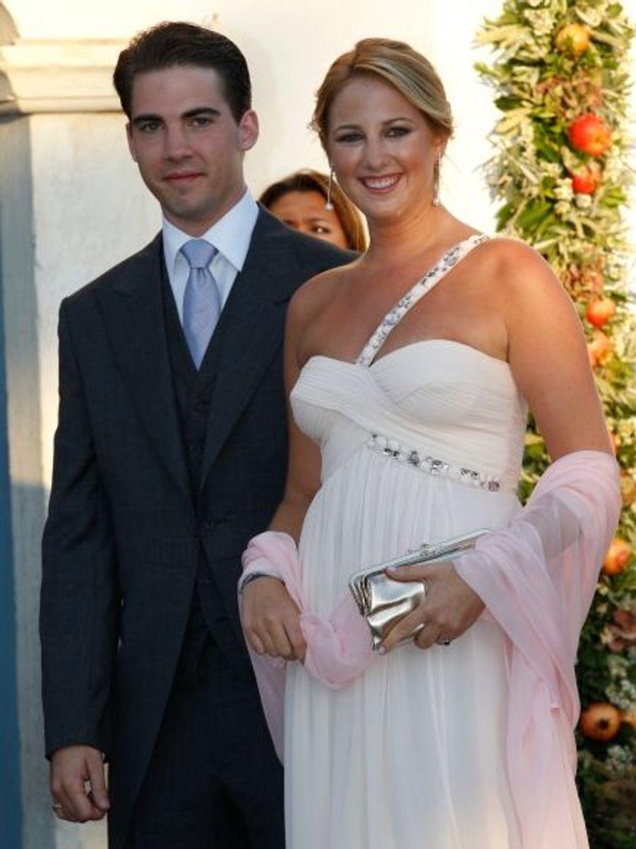 La princesse Théodora et le prince Filippos, respectivement, l'avant-dernière et le dernier enfant de Constantin et Anne-Marie.