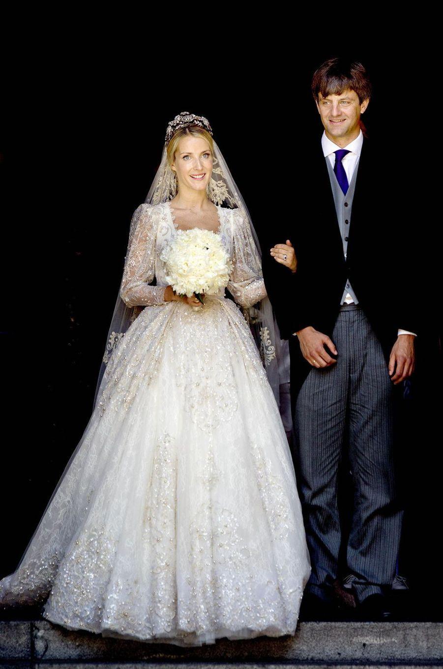 Le prince Ernst-August de Hanovre et Ekaterina Malysheva, le jour de leur mariage, le 8 juillet 2017 à Hanovre