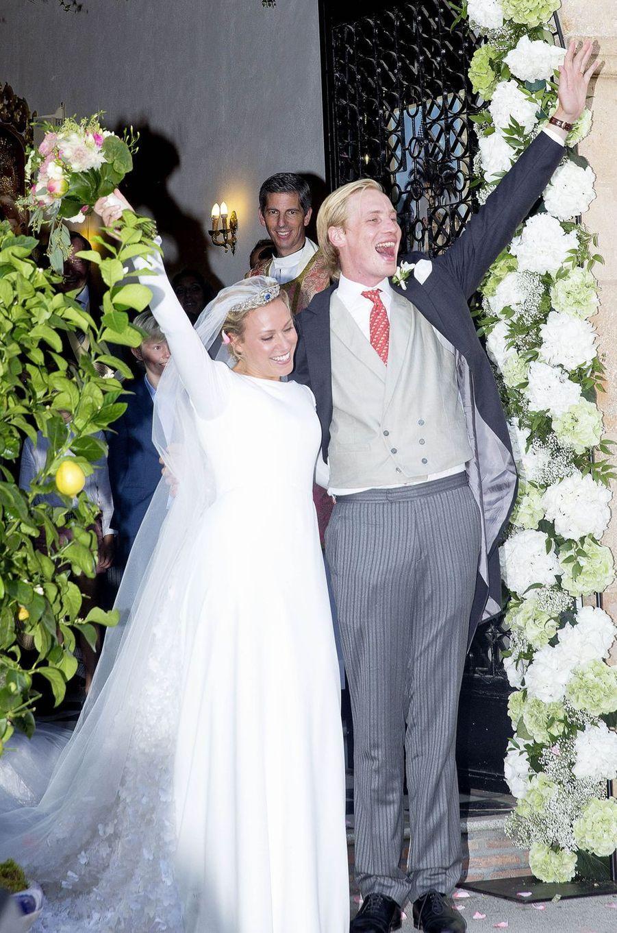 La princesse Marie-Gabrielle de Nassau et Antonius Willms, le jour de leur mariage, le 2 septembre 2017 à Marbella