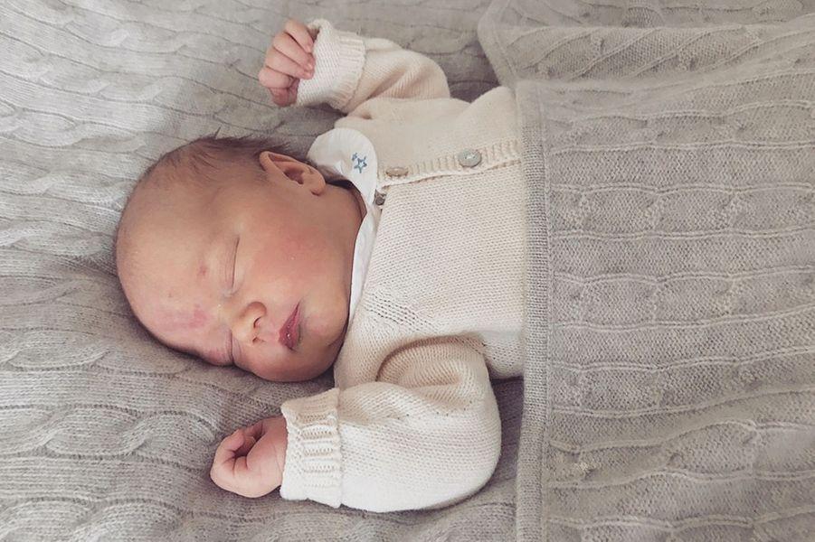 Le prince Gabriel de Suède, à 5 jours, le 5 septembre 2017