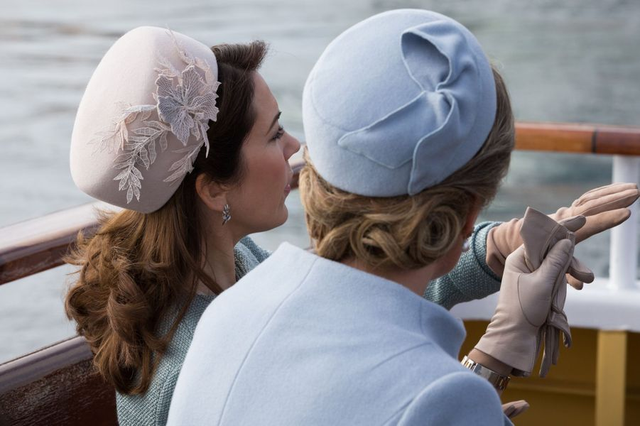 La princesse Mary de Danemark et la reine Mathilde de Belgique à Copenhague, le 28 mars 2017