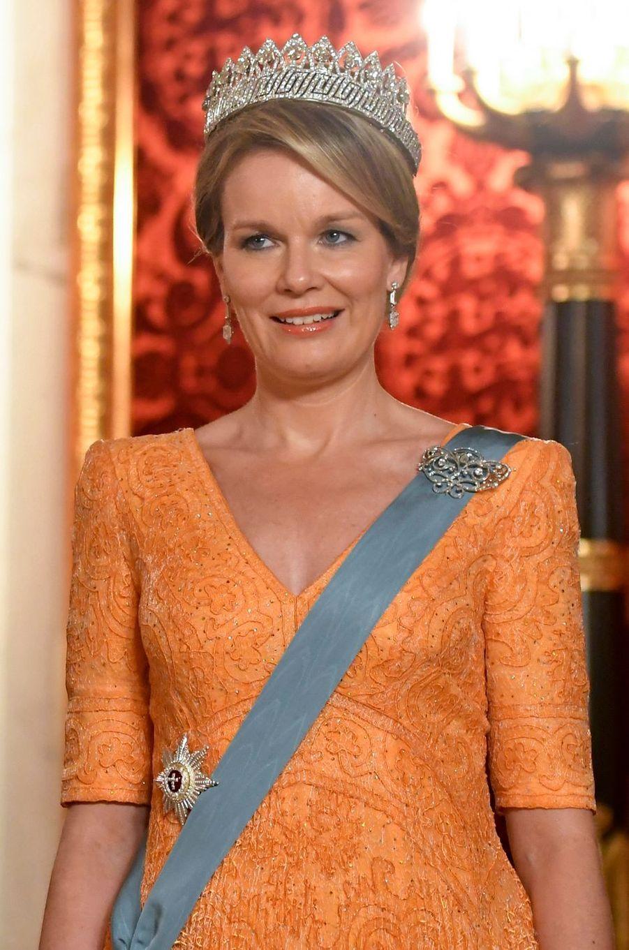 La reine Mathilde de Belgique à Copenhague, le 28 mars 2017