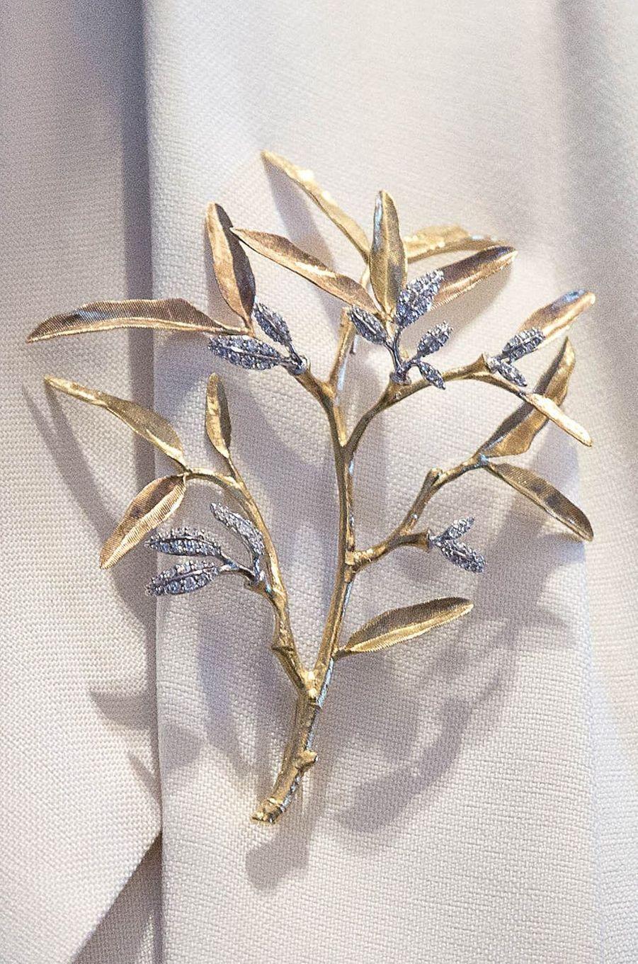 La broche de la princesse Mary de Danemark le 29 mai 2017