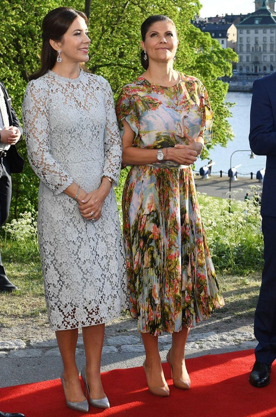 La princesse Victoria de Suède et la princesse Mary de Danemark le 29 mai 2017