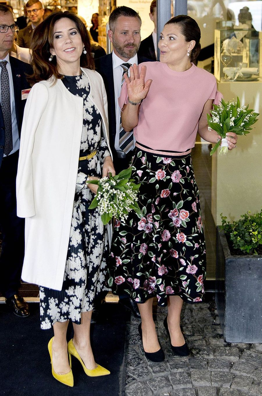 La princesse Victoria de Suède et la princesse Mary de Danemark le 30 mai 2017