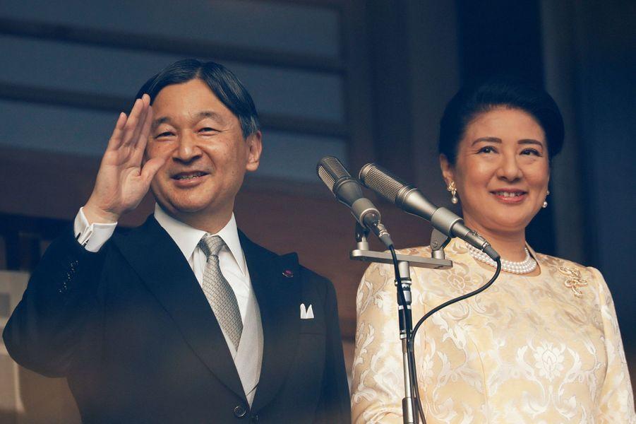 L'impératrice Masako et l'empereur Naruhito du Japon à Tokyo, le 2 janvier 2020