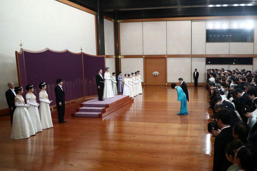 L'impératrice Masako et l'empereur Naruhito avec la famille impériale du Japon à Tokyo, le 1er janvier 2020