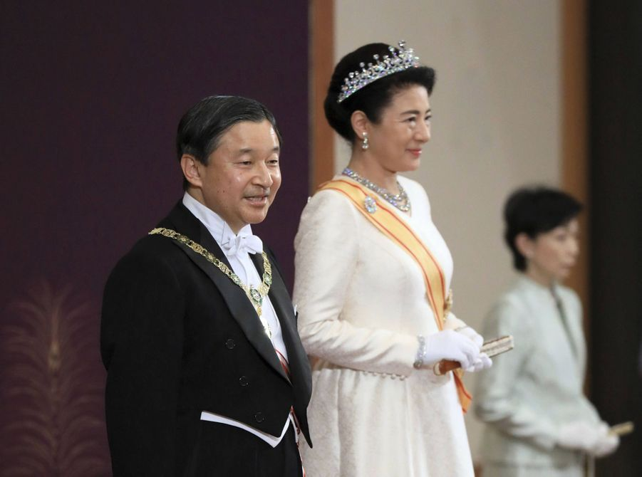 L'impératrice Masako et l'empereur Naruhito du Japon à Tokyo, le 1er janvier 2020