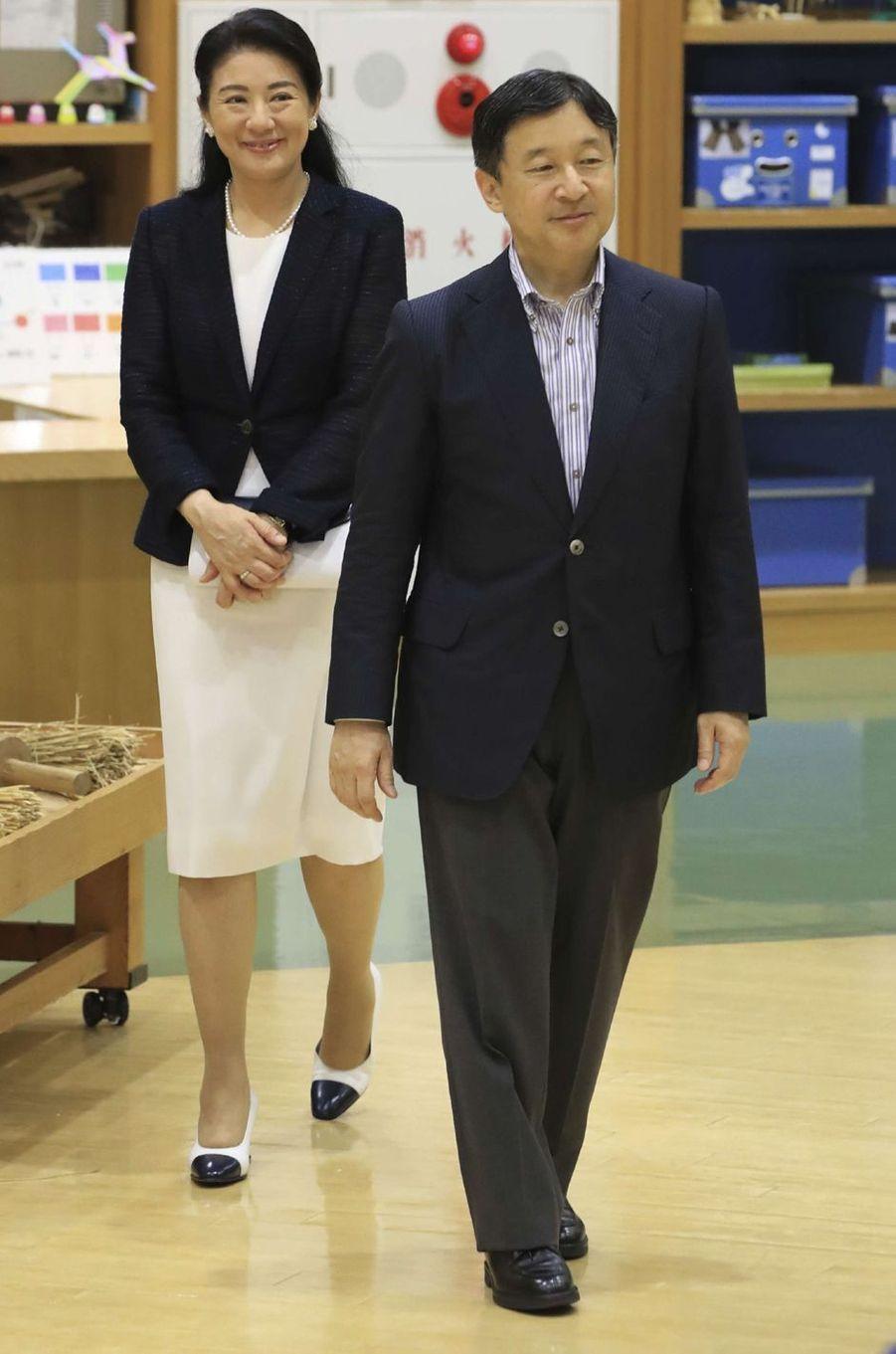 La princesse Masako et le prince Naruhito du Japon au Musée préfectoral d'Akita, le 11 juillet 2017