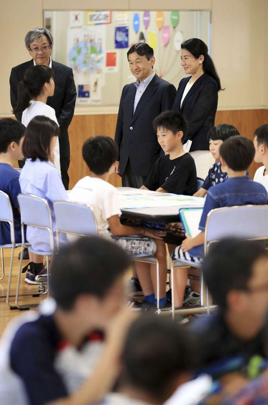 La princesse Masako et le prince Naruhito du Japon à Katagami, le 11 juillet 2017