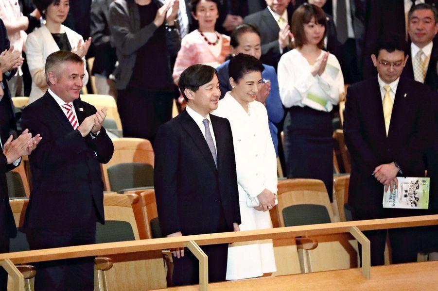 L'impératrice Masako et l'empereur Naruhito du Japon à un concert à Tokyo, le 14 juin 2019
