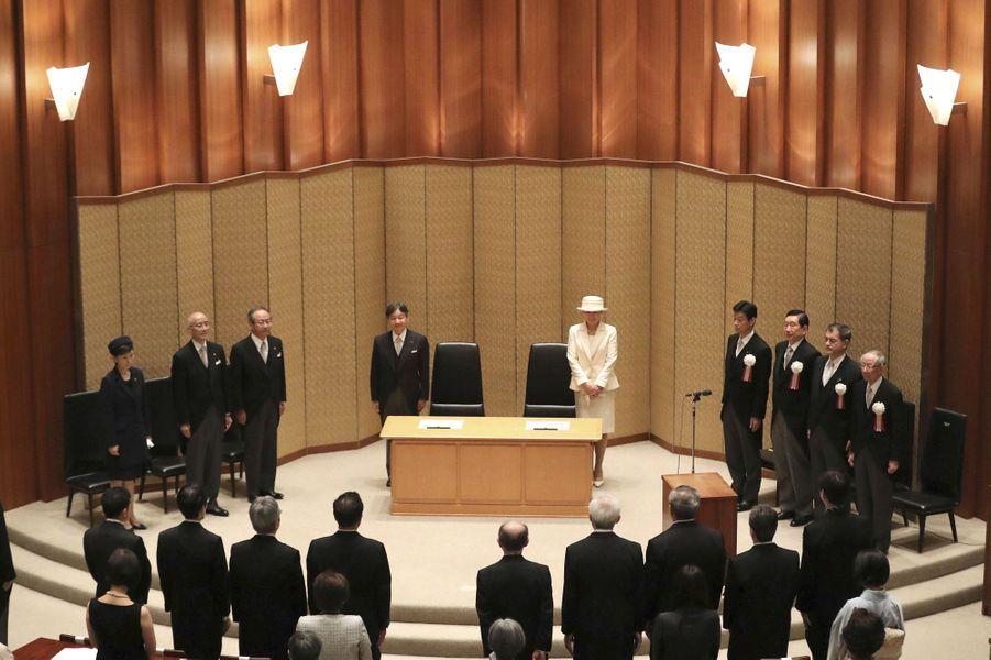 L'impératrice Masako et l'empereur Naruhito du Japon à Tokyo, le 17 juin 2019