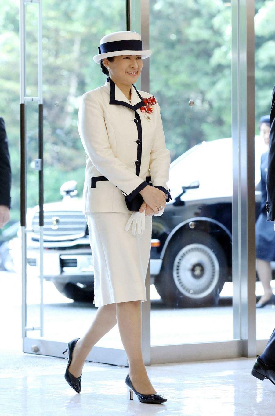 L'impératrice Masako du Japon assure son premier engagement solo à Tokyo, le 22 mai 2019