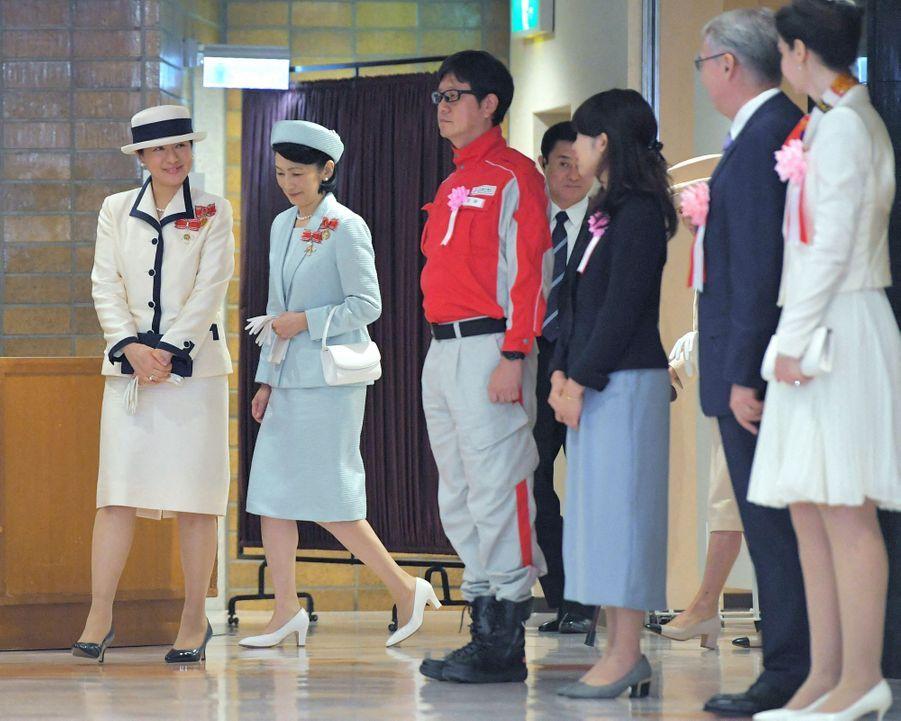 L'impératrice Masako du Japon et sa belle-soeur la princesse Kiko à Tokyo, le 22 mai 2019