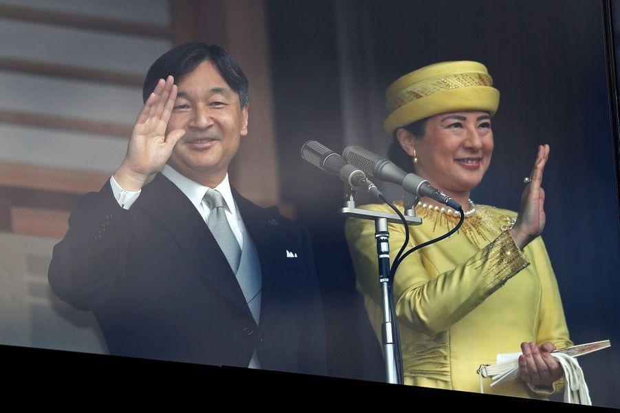 L'empereur Naruhito du Japon et l'impératrice Masako à Tokyo, le 4 mai 2019