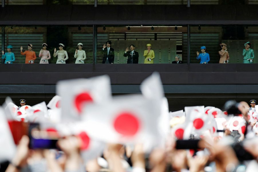 L'empereur Naruhito du Japon et l'impératrice Masako avec la famille impériale à Tokyo, le 4 mai 2019
