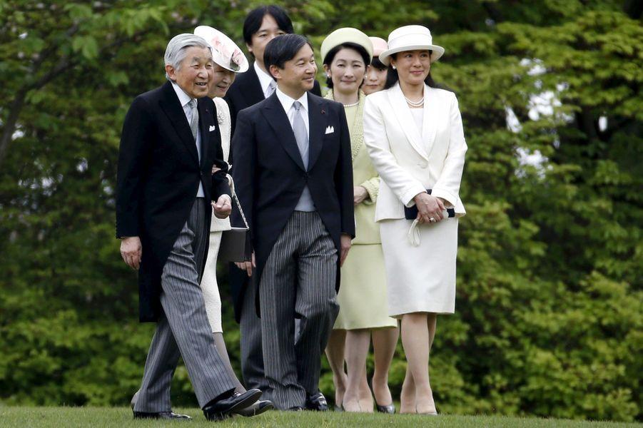 La famille impériale du Japon à Tokyo, le 27 avril 2016