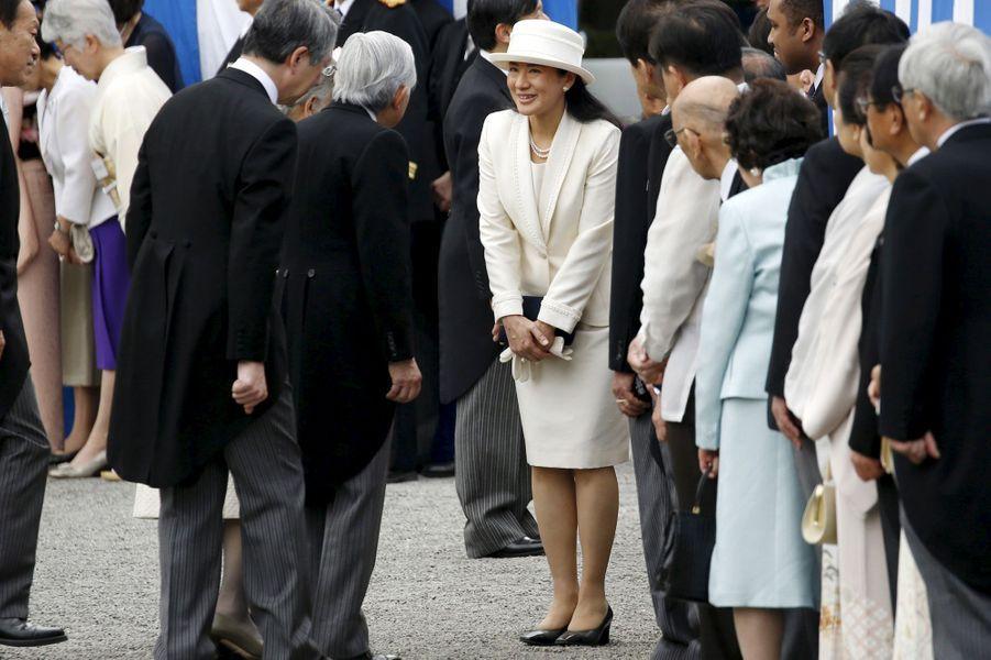 La princesse Masako du Japon à Tokyo, le 27 avril 2016