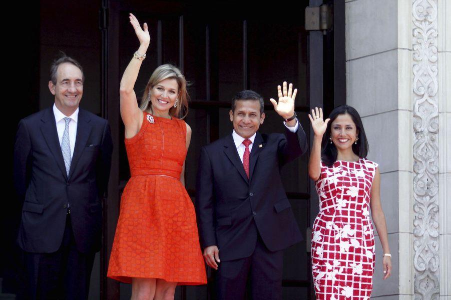 Maxima au palais présidentiel