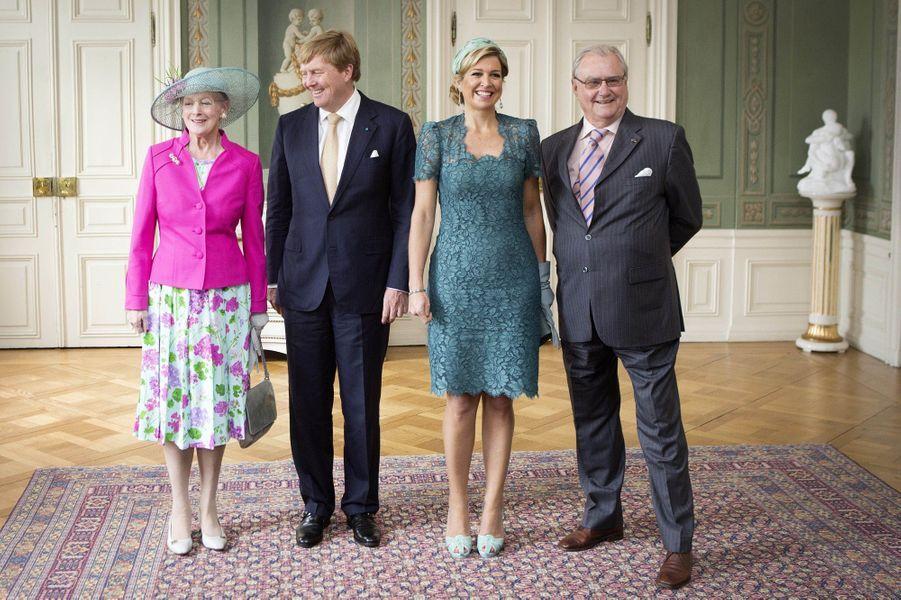 Maxima et le roi des Pays-Bas en visite royale au Danemark