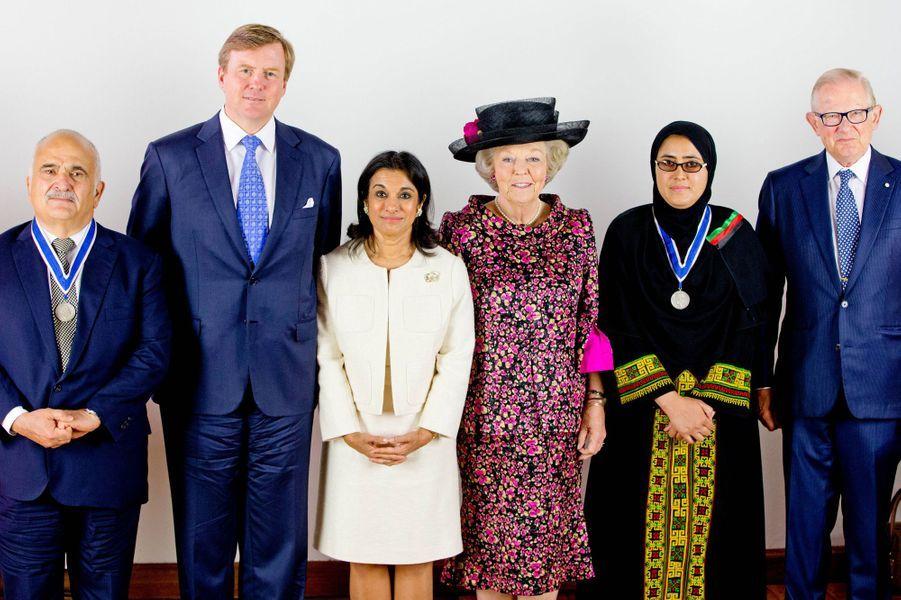 Hassan de Jordanie, Willem-Alexander, la princesse Sarvath el-Hassan, la princesse Beatrix , Maryam Durani, Pieter van Vollenhoven
