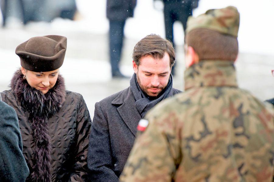 Guillaume et Stéphanie de Luxembourg à Auschwitz-Birkenau, le 27 janvier 2015