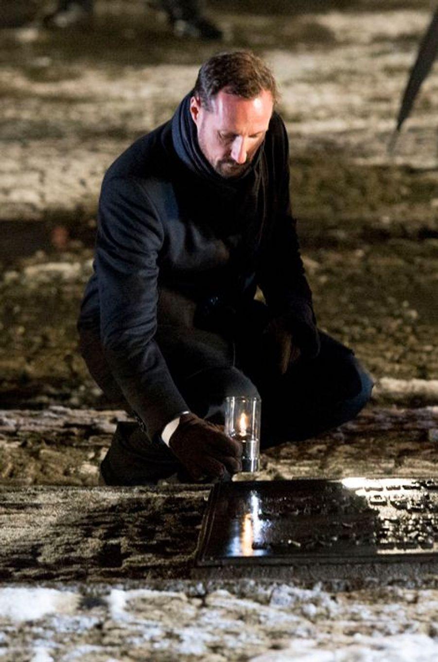 Haakon de Norvège à Auschwitz-Birkenau, le 27 janvier 2015