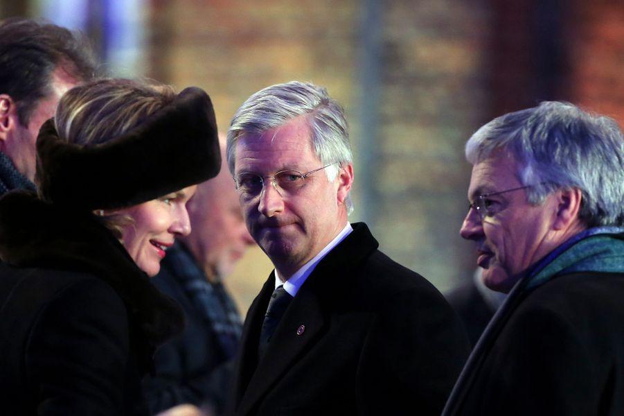 Philippe et Mathilde de Belgique à Auschwitz-Birkenau, le 27 janvier 2015