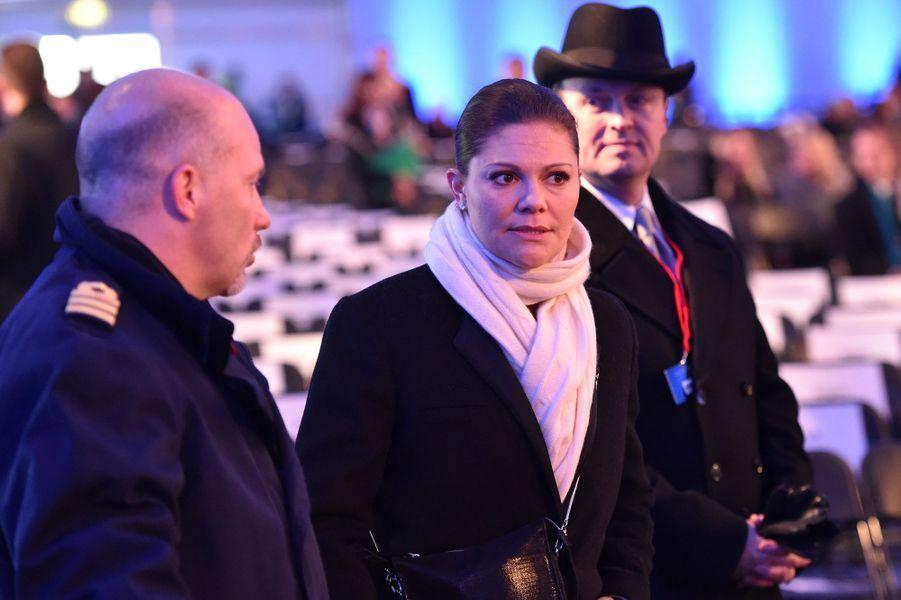 Victoria de Suède à Auschwitz-Birkenau, le 27 janvier 2015