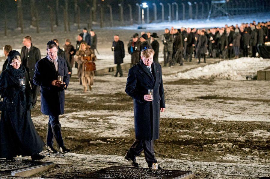 Willem-Alexander et Maxima des Pays-Bas à Auschwitz-Birkenau, le 27 janvier 2015