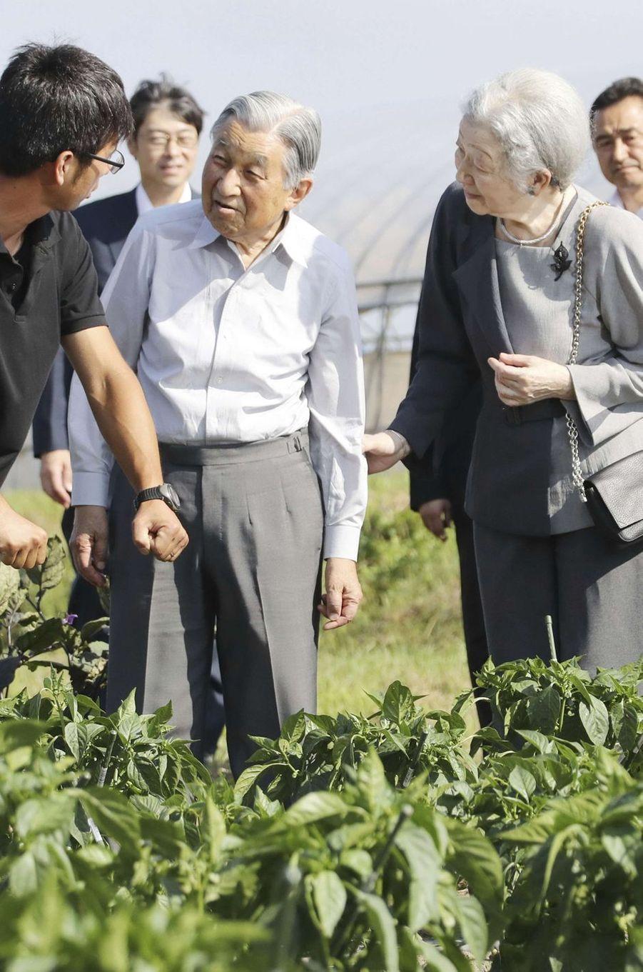 L'empereur Akihito du Japon et l'impératrice Michiko à Kitahiroshima, le 3 août 2018