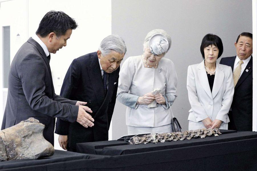 L'impératrice Michiko et l'empereur Akihito du Japon à Sapporo, le 5 août 2018