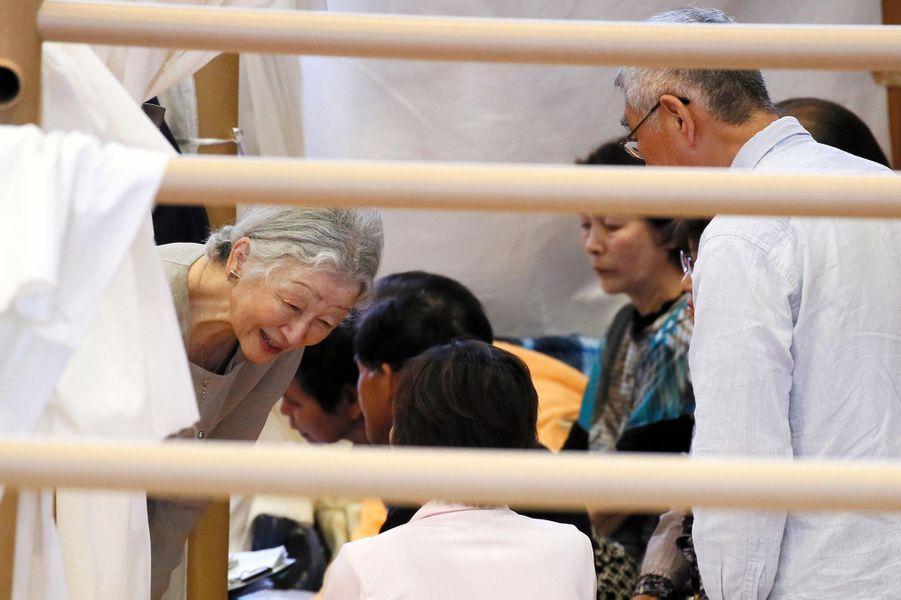 L'impératrice Michiko du Japon à Minamiaso, le 19 mai 2016