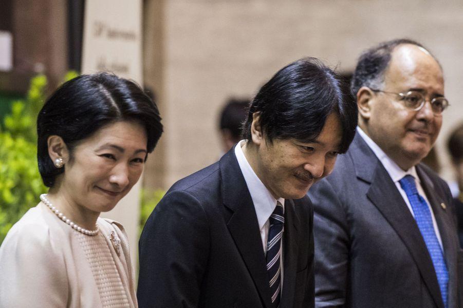 La princesse Kiko et le prince Akishino du Japon à Rome, le 12 mai 2016