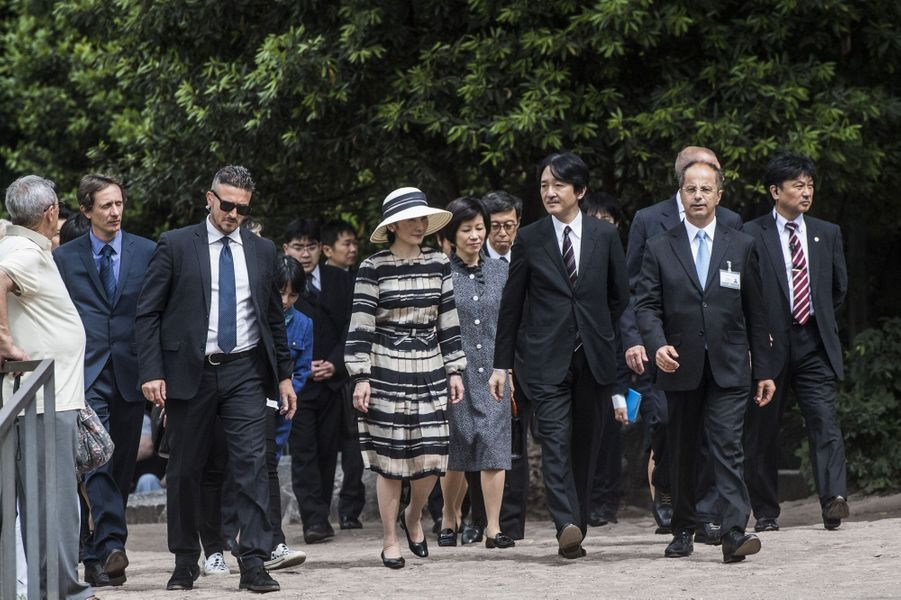 La princesse Kiko et le prince Akishino du Japon au Forum à Rome, le 11 mai 2016