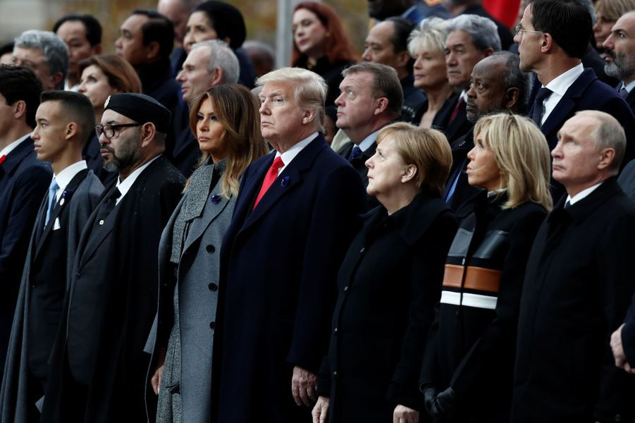 Le prince Moulay El Hassan du Maroc à Paris, le 11 novembre 2018