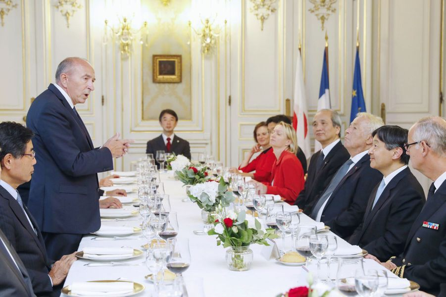 Le prince Naruhito du Japon à Lyon, le 8 septembre 2018