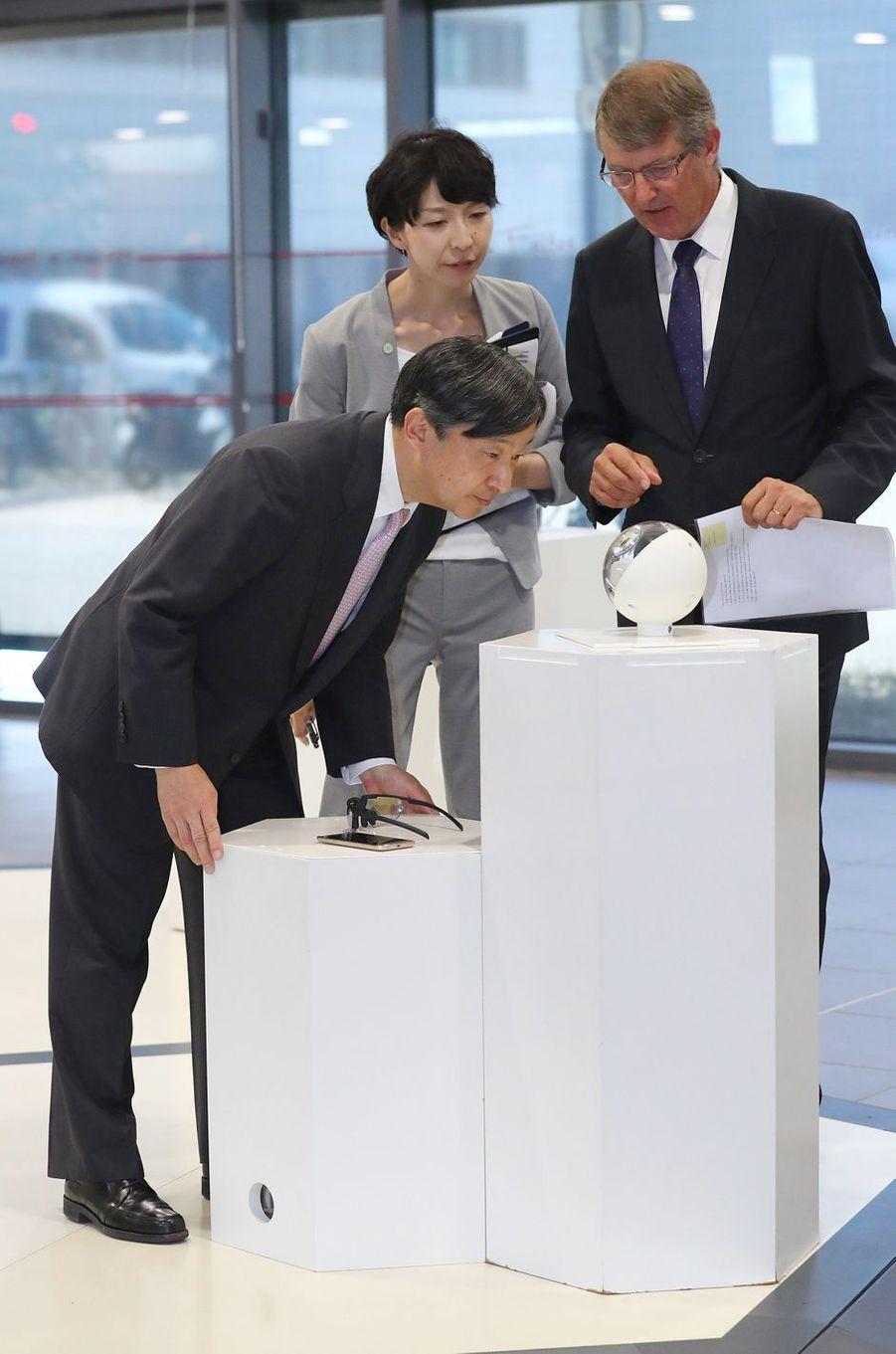 Le prince Naruhito du Japon à Grenoble, le 10 septembre 2018
