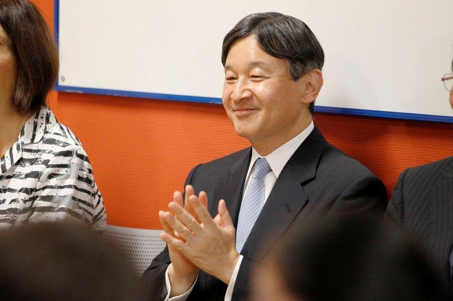 Le prince Naruhito du Japon près de Lyon, le 8 septembre 2018