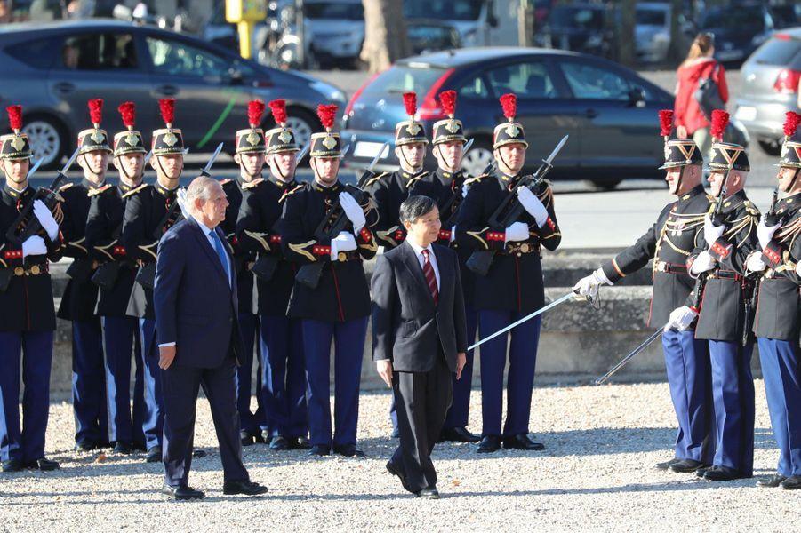 Le prince Naruhito du Japon à Paris, le 11 septembre 2018