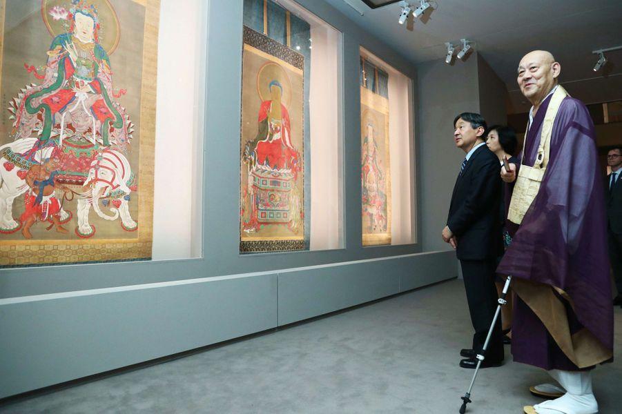 Le prince Naruhito du Japon au Petit Palais à Paris, le 13 septembre 2018